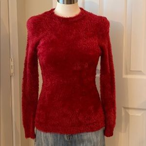 RED FITTED SWEATER by GRAN SUETE MODA